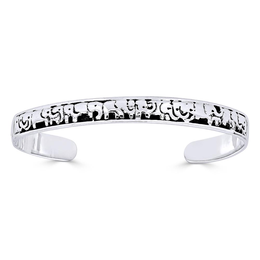DiamondJewelryNY Double Loop Bangle Bracelet with a St Marina Charm.